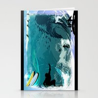 surfing Stationery Cards featuring Surfing by Robin Curtiss