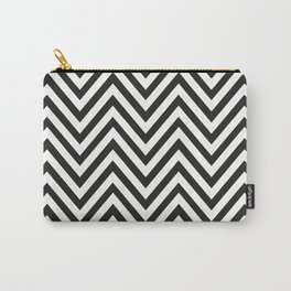 Geometric B/W Lines Pattern Carry-All Pouch