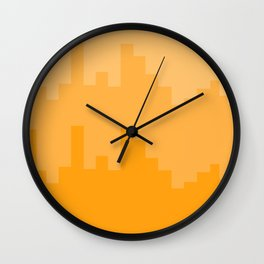 Yellow city line Wall Clock