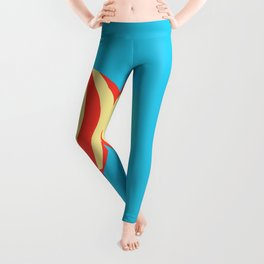 Classic Red and Yellow Hot Air Balloon Leggings