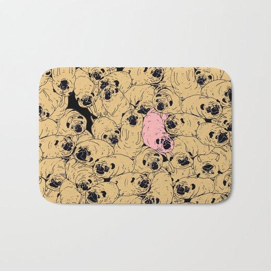 a lot a of pugs Bath Mat