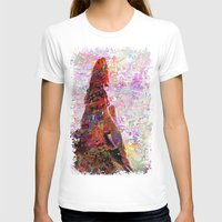 kandinsky T-shirts featuring DayDreaming - Intense Multi-Color Vibrant Abstract Mixed Media Digital Painting by Mark Compton