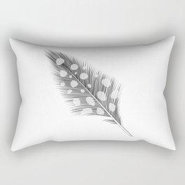 Polka Dotted Feather Rectangular Pillow