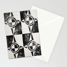 Abstract Compass Pattern Print Stationery Cards
