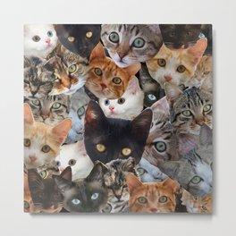 Kitty Collage Metal Print
