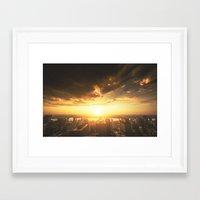 manhattan Framed Art Prints featuring manhattan by franckreporter