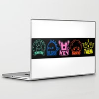 shinee Laptop & iPad Skins featuring SHINee World III Characters by Korea&Japan