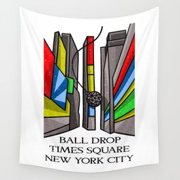 Ball Drop Times Square Wall Tapestry