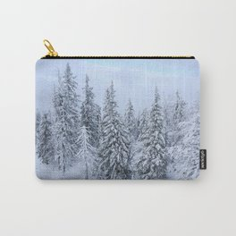 Snowy forest at the White Mountain Carry-All Pouch