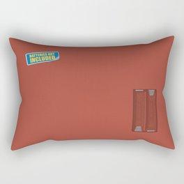 Batteries Not Included ~ Medium Carmine Rectangular Pillow
