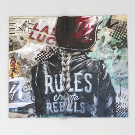 Rules Create Rebels Throw Blanket