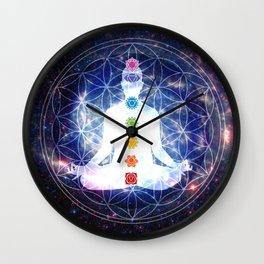 Flower of Life Chakra Lightbody Meditation Wall Clock
