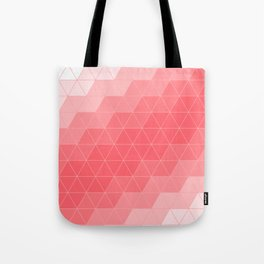 Coral Red Triangles Tote Bag