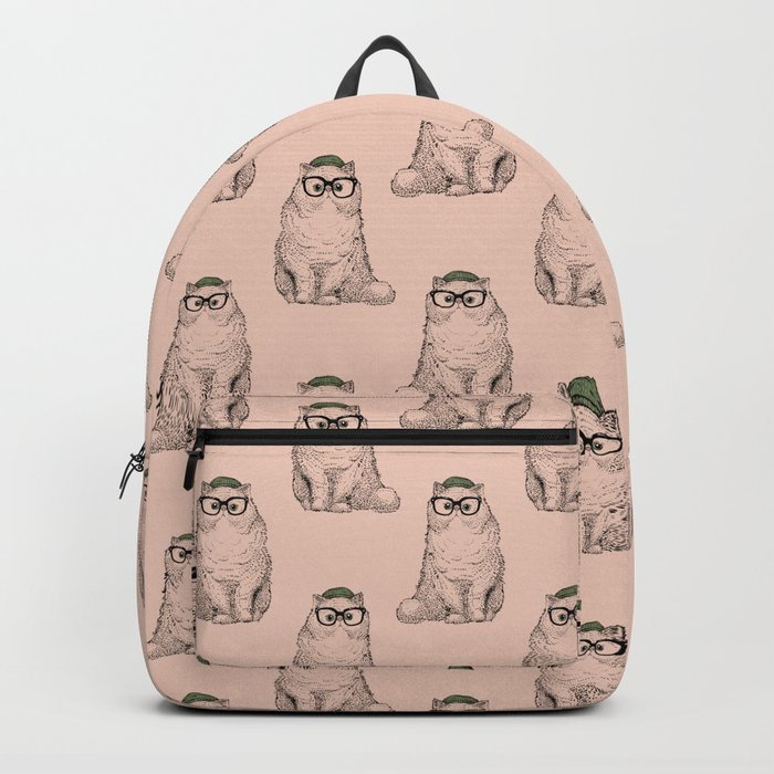 Hipster Persian Cat Backpack