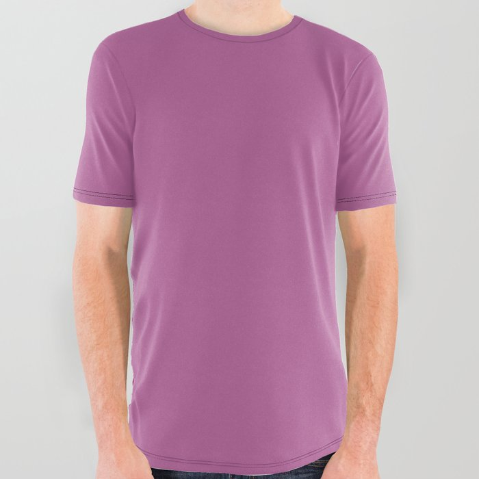 Dunn_&_Edwards_2019_Curated_Colors_Brandywine_Pinkish_Purple_DE5005_Solid_Color_All_Over_Graphic_Tee_by_Simply_Solids__Solid_Colors_For_Those_T__S
