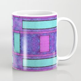 Painted cyan and magenta parallel bars Coffee Mug