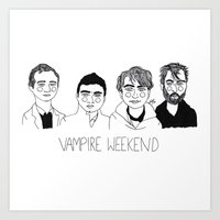 vampire weekend Art Prints featuring Vampire Weekend by ☿ cactei ☿