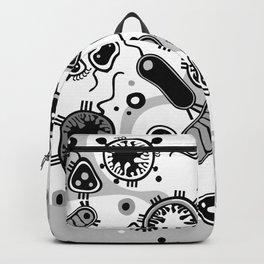 Eukaryote (black and white) Backpack