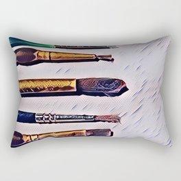 Paint Brushes Rectangular Pillow