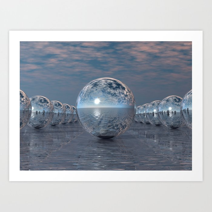 Spheres In The Sun Art Print