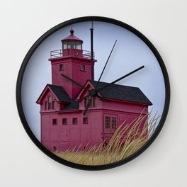 The Lighthouse Big Red in Holland Michigan Wall Clock