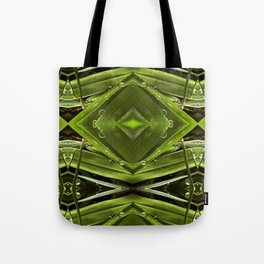 Dew Drop Jewels on Summer Green Grass Tote Bag