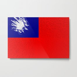 Extruded flag of Taiwan Metal Print
