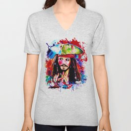 Captain Jack Sparrow Unisex V-Neck