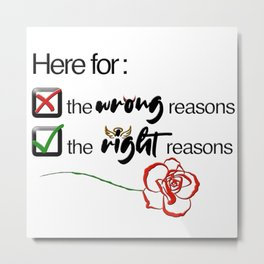Here for the Right/Wrong Reasons   The Bachelor Metal Print