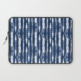 Shibori Stripes Indigo Blue Laptop Sleeve