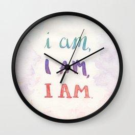I Am, I Am, I Am Wall Clock