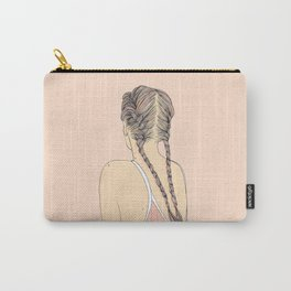 Pretty In Pink Pigtails Carry-All Pouch