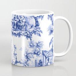 Blue Chinoiserie Toile Coffee Mug