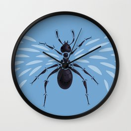 Weird Abstract Flying Ant Wall Clock