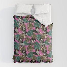 Tropical Bluetick Coonhounds Comforters