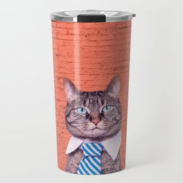 the stylish cat Travel Mug