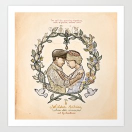"""Illustration from the video of the song by Wilder Adkins, """"When I'm Married"""" Art Print"""