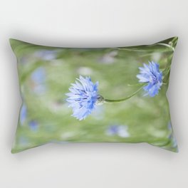 cornflowers in the meadow Rectangular Pillow