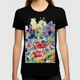 Spring Flowers Watercolour T-shirt