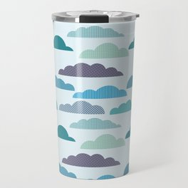 Rainy autumn seamless pattern with clouds Travel Mug