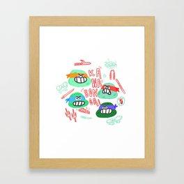 kawabonga Framed Art Print