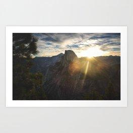 Yosemite National Park - Half Dome at Sunrise Art Print