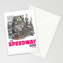 """Javier Arres T-Shirts/Camisetas """"The Speedway 3000"""" Stationery Cards"""