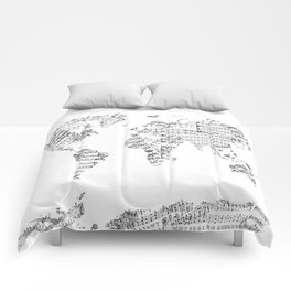 Atlas comforters society6 world map music vintage white comforters gumiabroncs Gallery