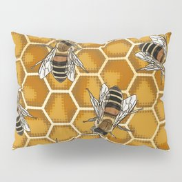 Honey Bee Beehive * Bumble Bees and Worker Bees Pillow Sham