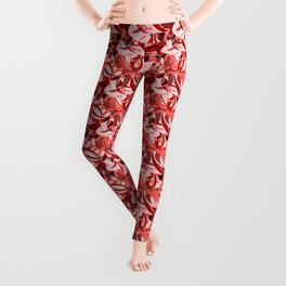 Abstract Curls - Burgundy, Coral, Pink Leggings