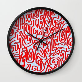 Blue red Wall Clock