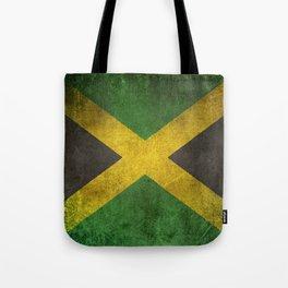 Old and Worn Distressed Vintage Flag of Jamaica Tote Bag