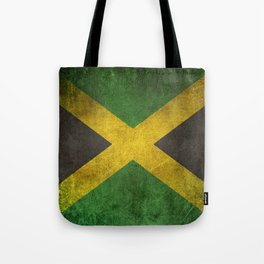 Old and Worn Distressed Vintage Flag of Jamaica Tote Bag