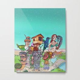 Travelling Totem  Metal Print